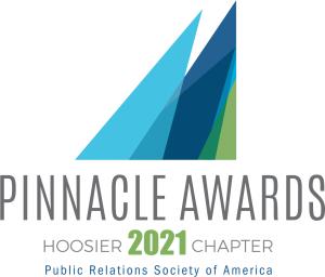 2021 Pinnacle Awards logo for the PRSA Hoosier Chapter