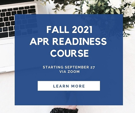 Click here for more info about the Fall 2021 APR Readiness Course